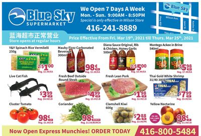 Blue Sky Supermarket (North York) Flyer March 19 to 25
