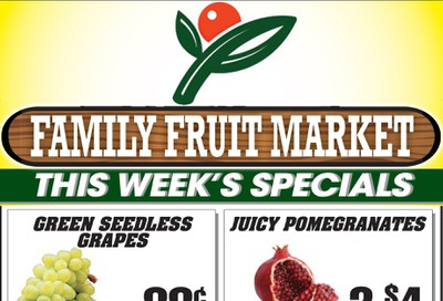 Family Fruit Market Flyer October 16 to 18