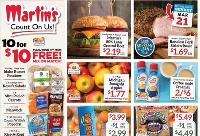 Martin's Weekly Ad Flyer March 21 to March 27