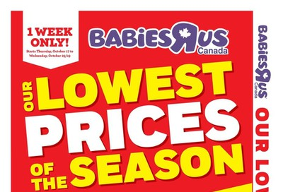 Babies R Us Flyer October 17 to 23