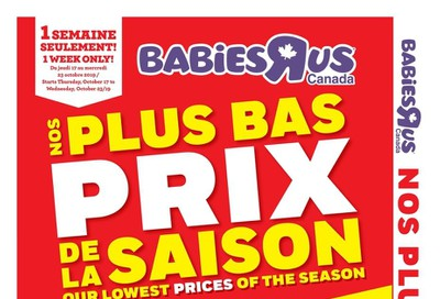 Babies R Us (QC) Flyer October 17 to 23