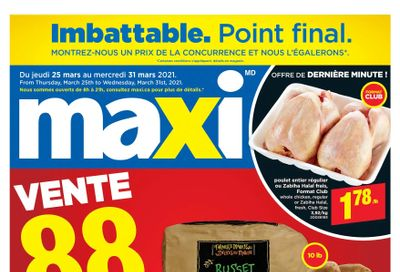Maxi Flyer March 25 to 31