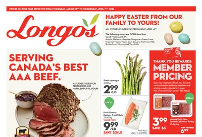 Longo's Flyer March 25 to April 7