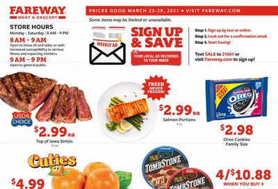 Fareway (IA, IL, MN, MO, NE, SD) Weekly Ad Flyer March 23 to March 29