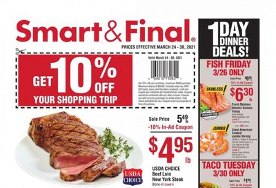 Smart & Final (AZ, CA, NV) Weekly Ad Flyer March 24 to March 30