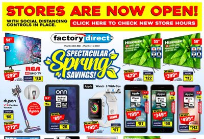 Factory Direct Flyer March 24 to 31