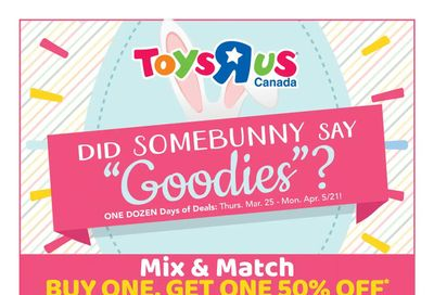 Toys R Us Flyer March 25 to April 5