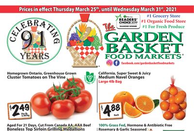 The Garden Basket Flyer March 25 to 31