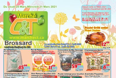 Marche C&T (Brossard) Flyer March 25 to 31