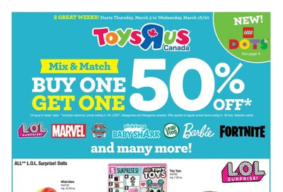 Toys R Us Flyer March 5 to 18