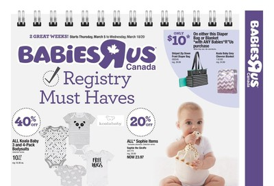 Babies R Us Flyer March 5 to 18