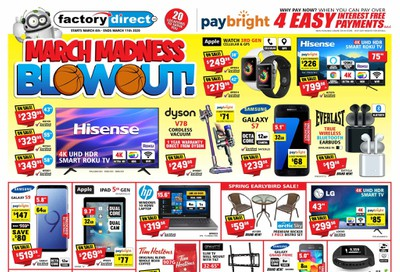 Factory Direct Flyer March 4 to 11