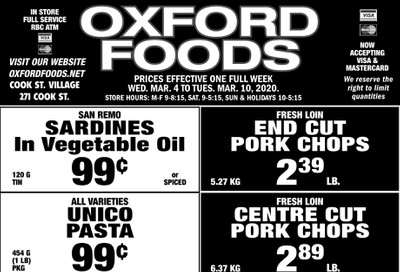 Oxford Foods Flyer March 4 to 10