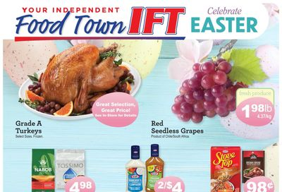IFT Independent Food Town Flyer March 26 to April 1