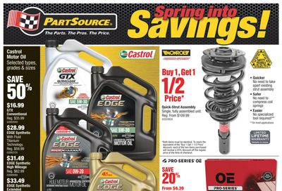PartSource Flyer March 26 to April 7