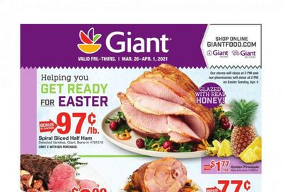 Giant Food Weekly Ad Flyer March 26 to April 1