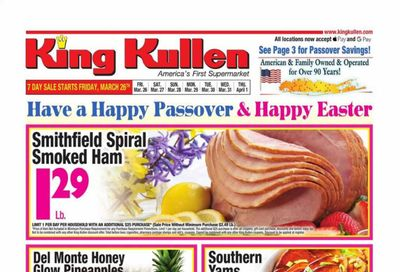 King Kullen Weekly Ad Flyer March 26 to April 1