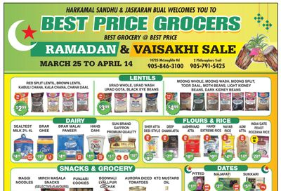 Best Price Grocers Flyer March 25 to April 14