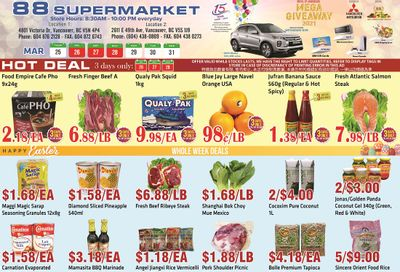 88 Supermarket Flyer March 25 to 31