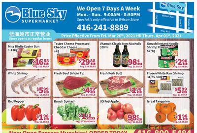 Blue Sky Supermarket (North York) Flyer March 26 to April 1