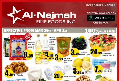 Alnejmah Fine Foods Inc. Flyer March 26 to April 1