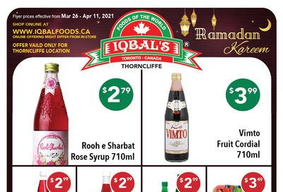 Iqbal Foods Flyer March 26 to April 11