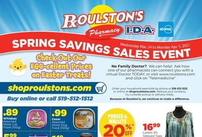 Roulston's Pharmacy Flyer March 24 to April 5
