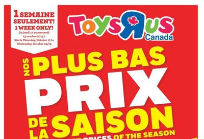 Toys R Us (QC) Flyer October 17 to 23