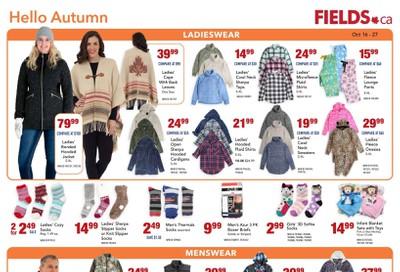 Fields.ca Flyer October 16 to 27