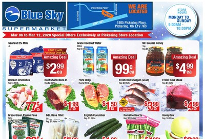Blue Sky Supermarket (Pickering) Flyer March 6 to 12