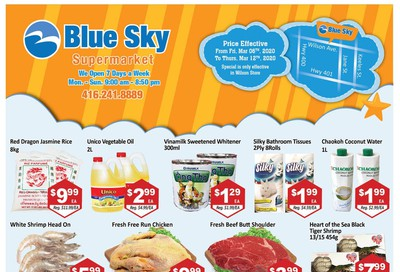 Blue Sky Supermarket (North York) Flyer March 6 to 12