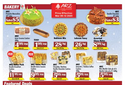 Arz Fine Foods Flyer March 6 to 12