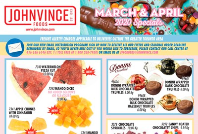 Johnvince Foods Wholesale Specials Flyer March 1 to April 30