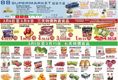 88 Supermarket Flyer March 5 to 11