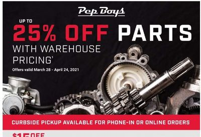 Pep Boys Weekly Ad Flyer March 28 to April 24