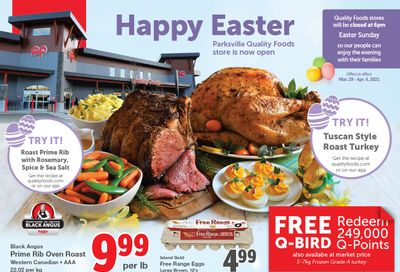 Quality Foods Flyer March 29 to April 4