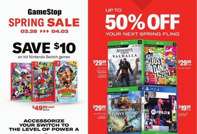 GameStop Weekly Ad Flyer March 28 to April 3
