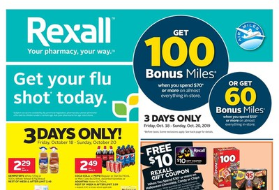 Rexall (West) Flyer October 18 to 24