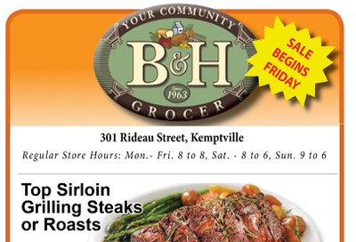 B&H Your Community Grocer Flyer October 18 to 24