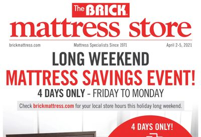 The Brick Mattress Store Flyer March 30 to April 12
