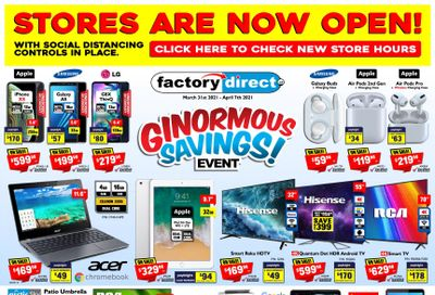 Factory Direct Flyer March 31 to April 7
