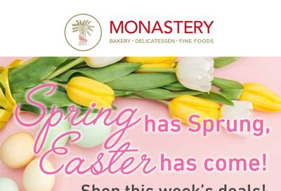 Monastery Bakery Flyer March 31 to April 7