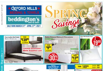 Beddington's Flyer March 31 to April 27