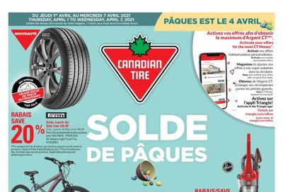 Canadian Tire (QC) Flyer April 1 to 7