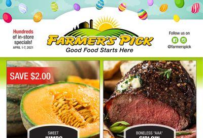 Farmer's Pick Flyer April 1 to 7