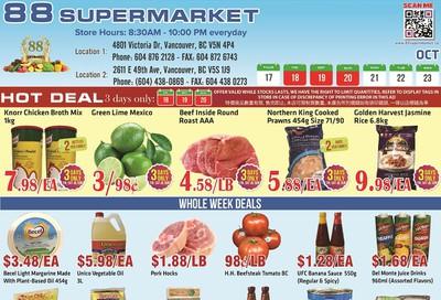 88 Supermarket Flyer October 17 to 23