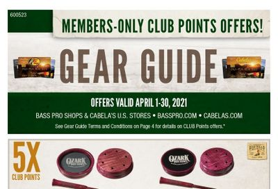 Cabela's Weekly Ad Flyer April 1 to April 30