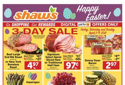 Shaw's (MA, ME, NH, RI, VT) Weekly Ad Flyer April 2 to April 8