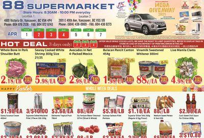 88 Supermarket Flyer April 1 to 7