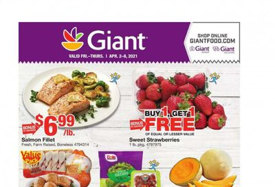 Giant Food Weekly Ad Flyer April 2 to April 8